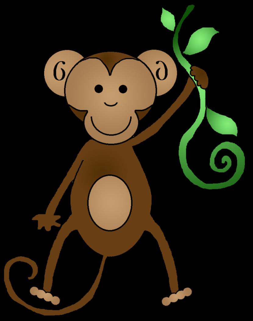 Monkey Clip Art Black And ..