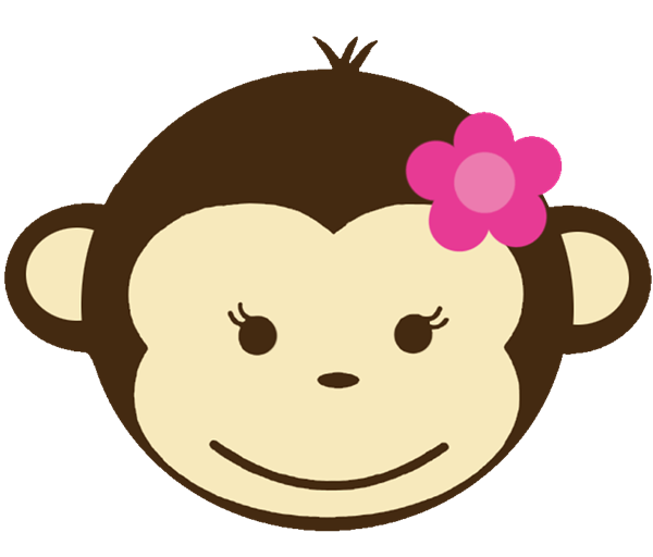 Boy monkey face clipart
