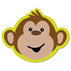 Clip Art Baby Monkey Face Clipart #1