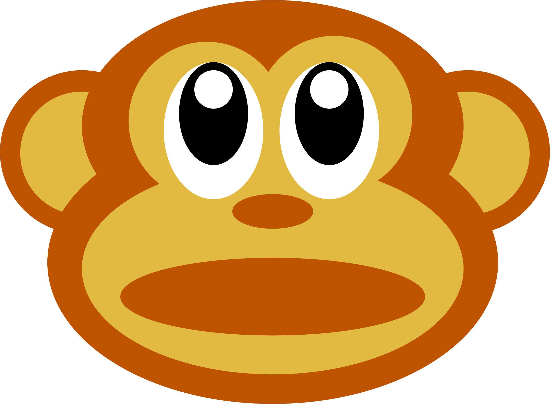 Clipart monkey face hdclipartall