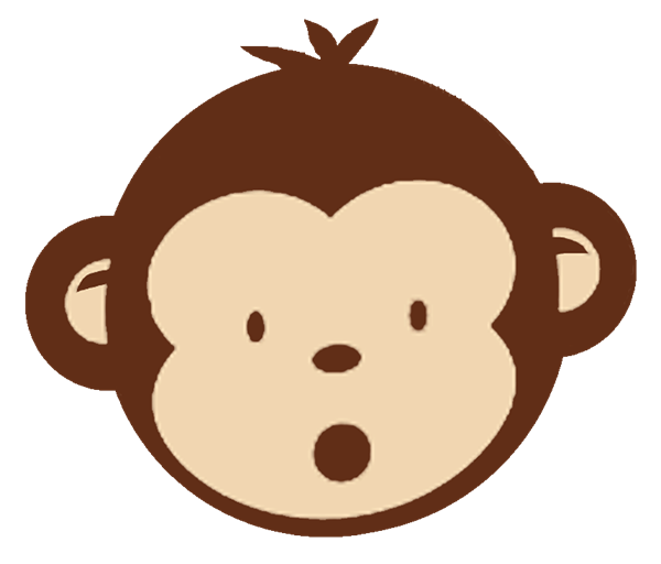 Cute monkey face clipart 3