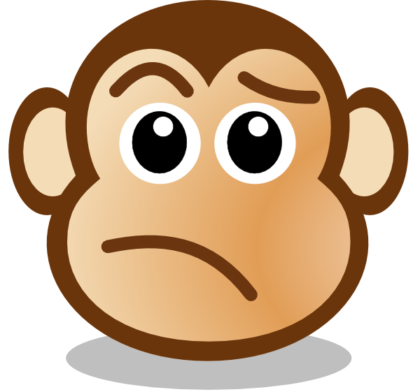 Monkey Face Clipart this image as: