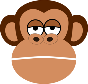 Monkey Cartoon Face Clip Art - Monkey Face Clipart