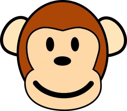 Monkey Face Clip Art
