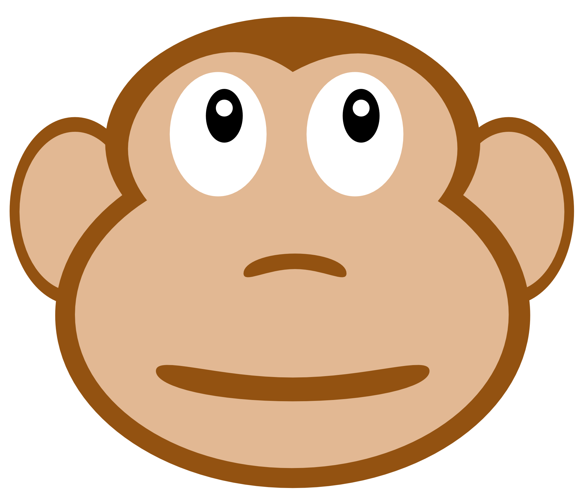 Monkey Face Clipart #1