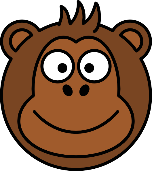 Monkey Face Clipart #12619