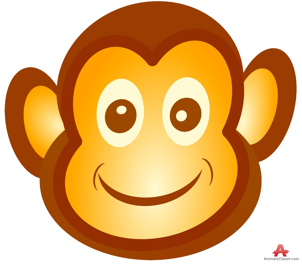 Monkey face icon clipart free design Monkey Face Clipart