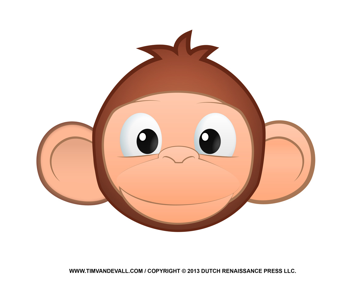 Printable monkey clipart loring pages cartoon