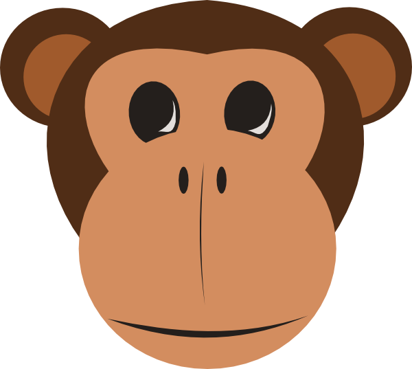 Staggering Monkey Face Clipart 34 On Free Clip Art With Monkey Face Clipart
