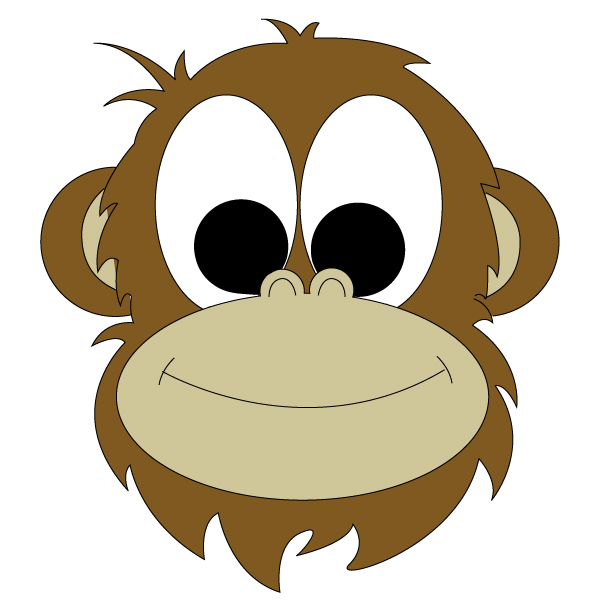 Monkey Face Drawing