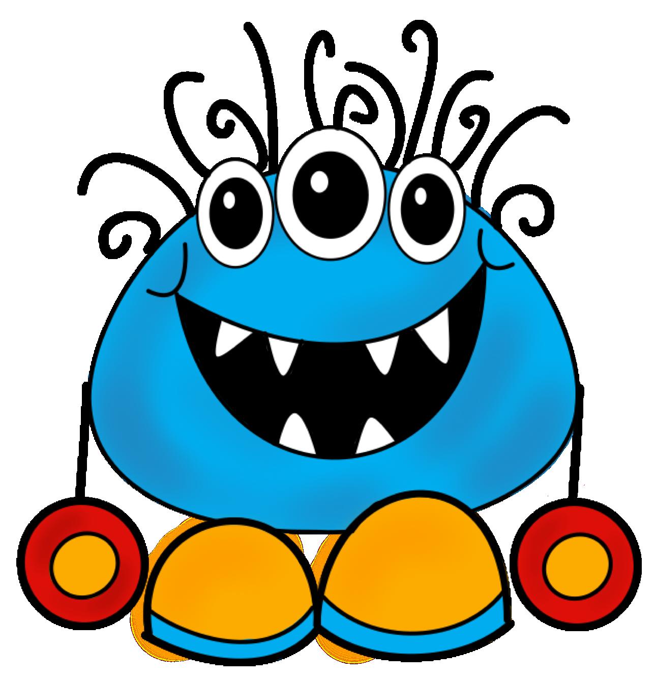 Monster clip art cartoon free clipart images 2