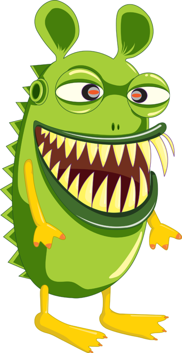 A Goofy Green Monster - Monster Clipart