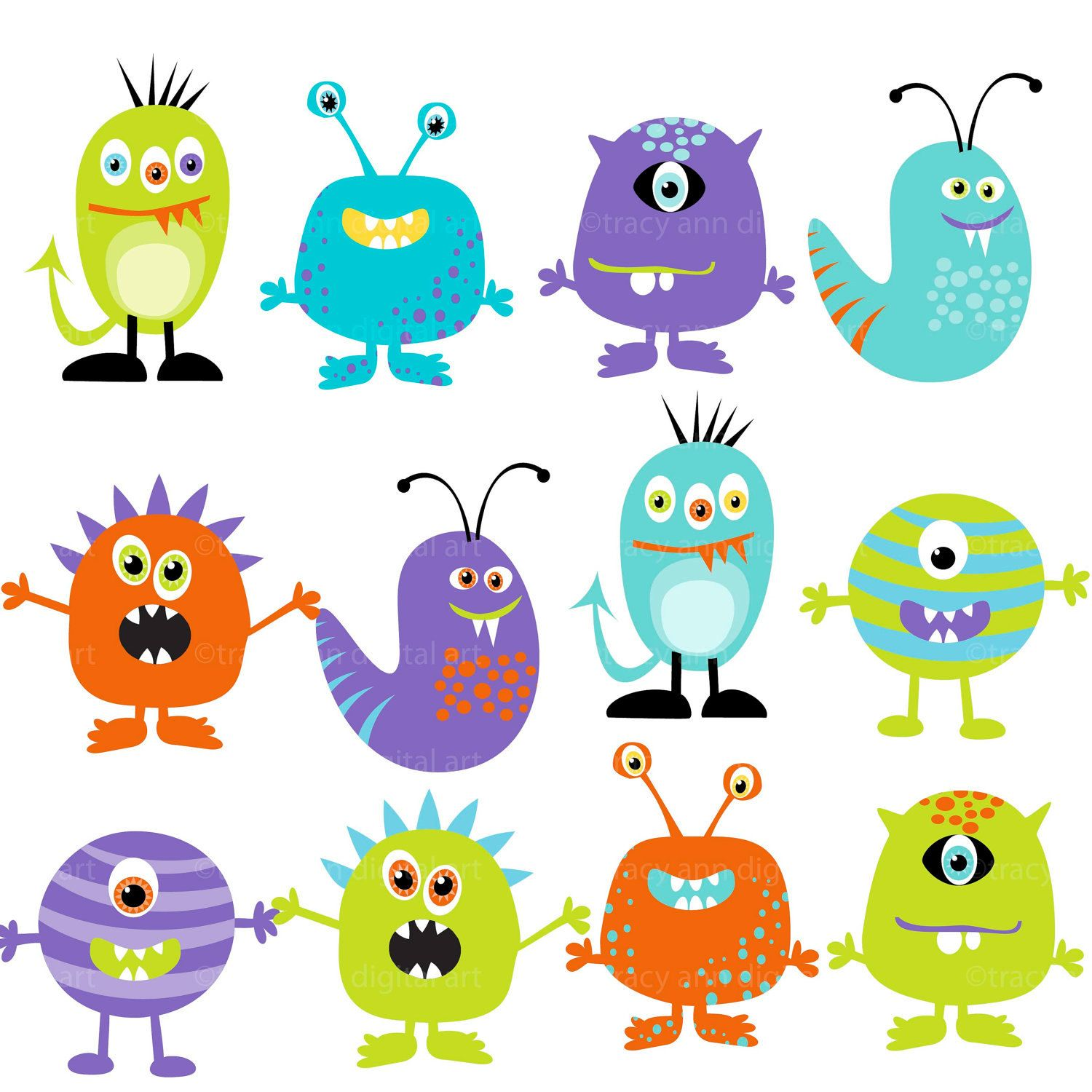 Little monster clipart 4