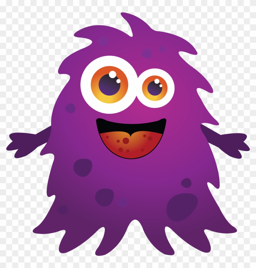 Purple Cartoon Monster Clipart Free Clip Art Images - Baby Monster Svg