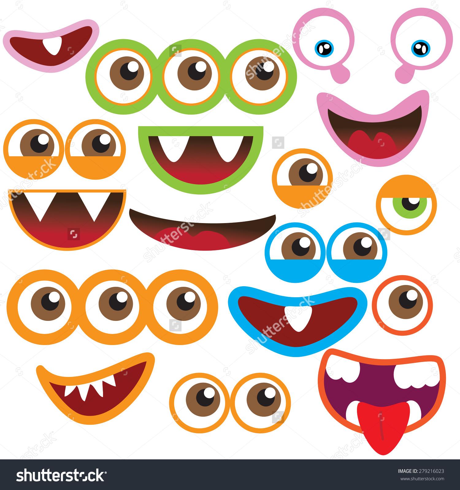 Monster eyes clipart - .