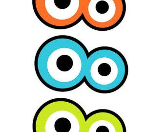 Monster Eyes Printable Items For Monster On Etsy