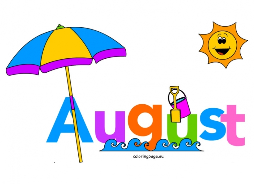 month of august clip art coloring page throughout august clipart august clipart
