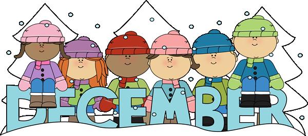 Month of December Winter Kids