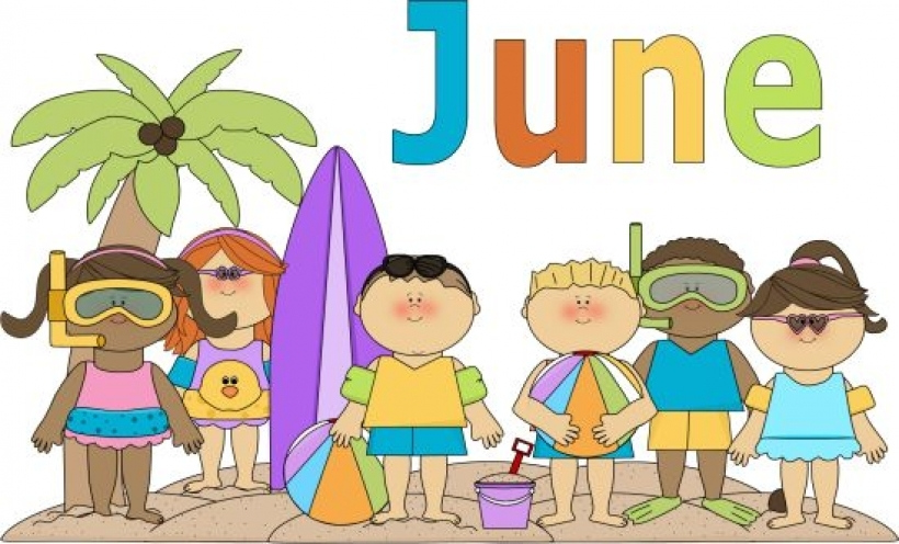 Month of june clip art free 6 calendar within
