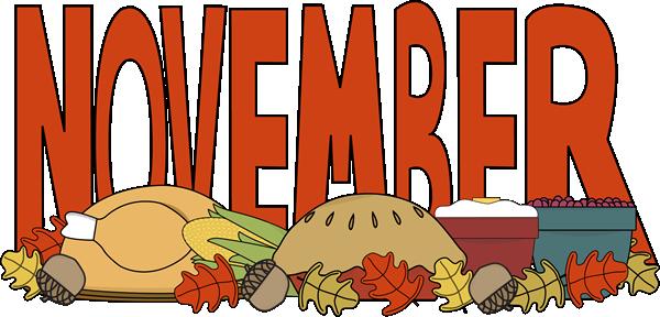 Month of November Thanksgiving Food