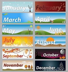 Months Of The Year Clip Art Item 4 Vector Magz Free Download
