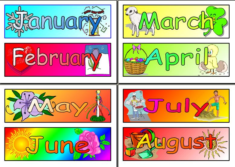 Months Of The Year Clipart Clipart Printables Tags Scrapbooking