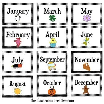 Months Of The Year Flashcards New Calendar Template Site
