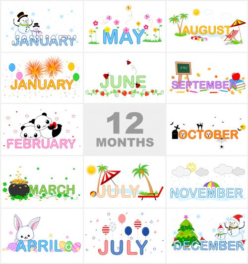 Months of the Year Printable  - Months Of The Year Clipart
