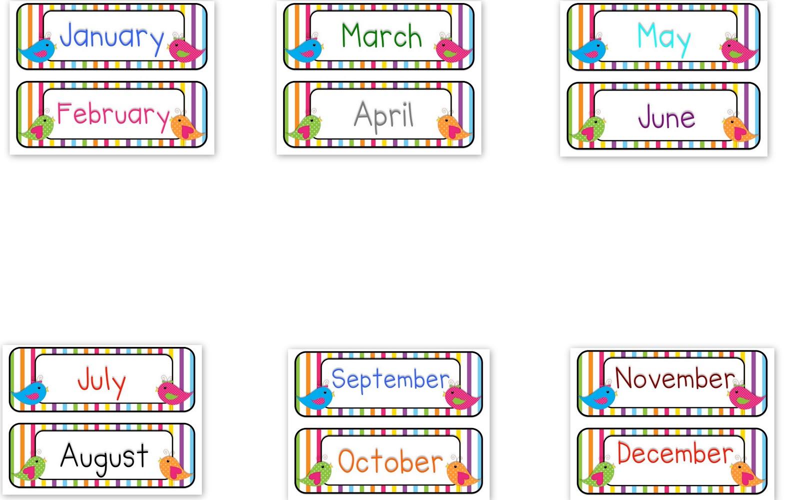 Months of Year Clip Art