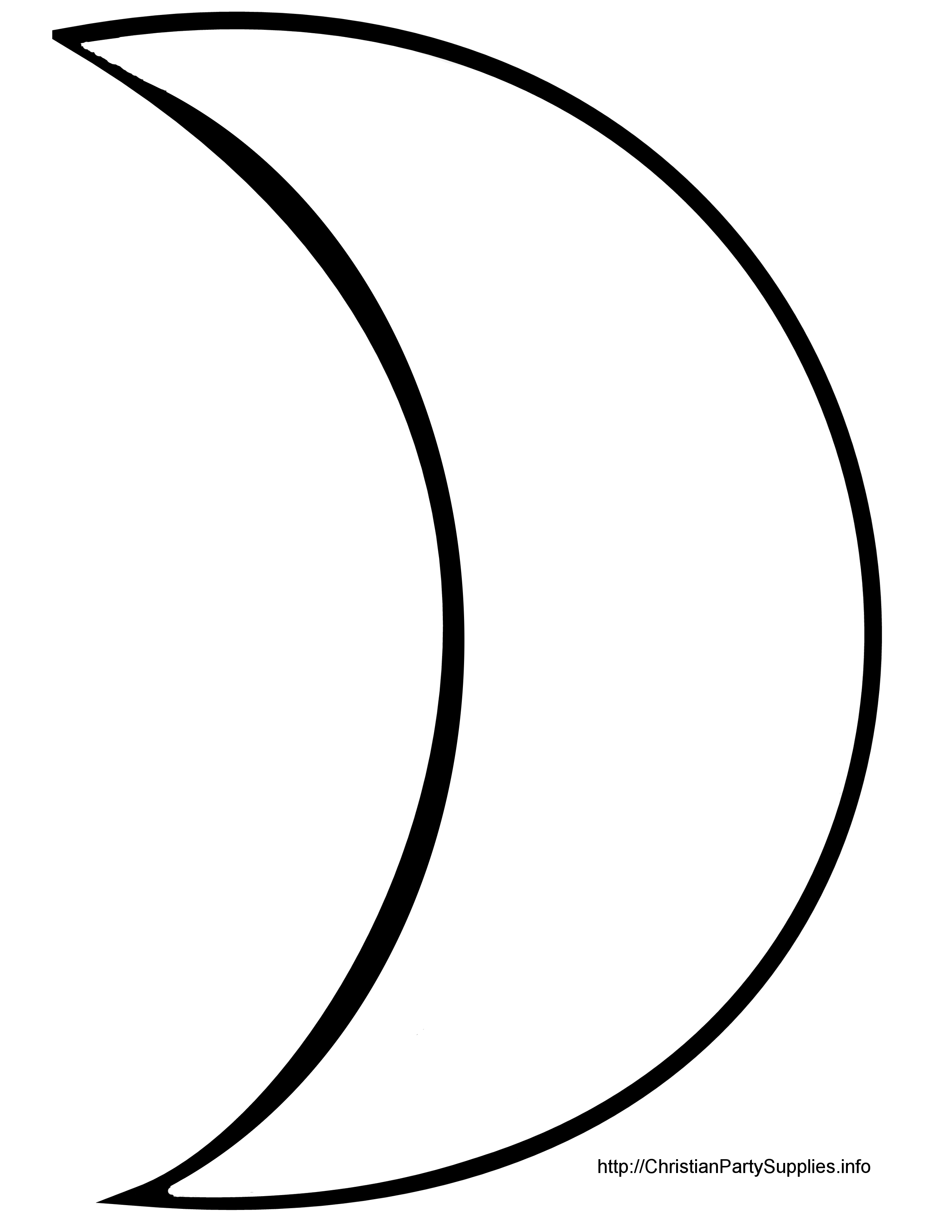 Moon And Stars Outline Clipart Full Version Free Click Image