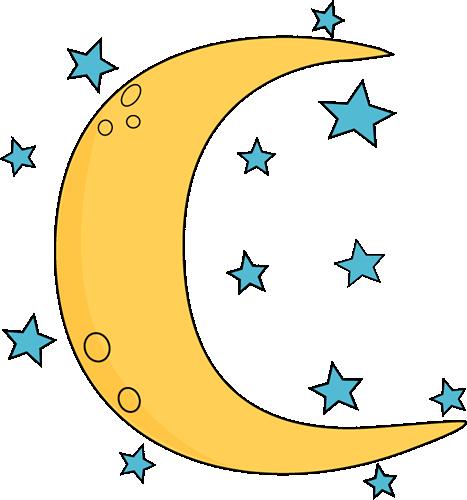 Moon Clip Art Crescent Moon And Stars Png