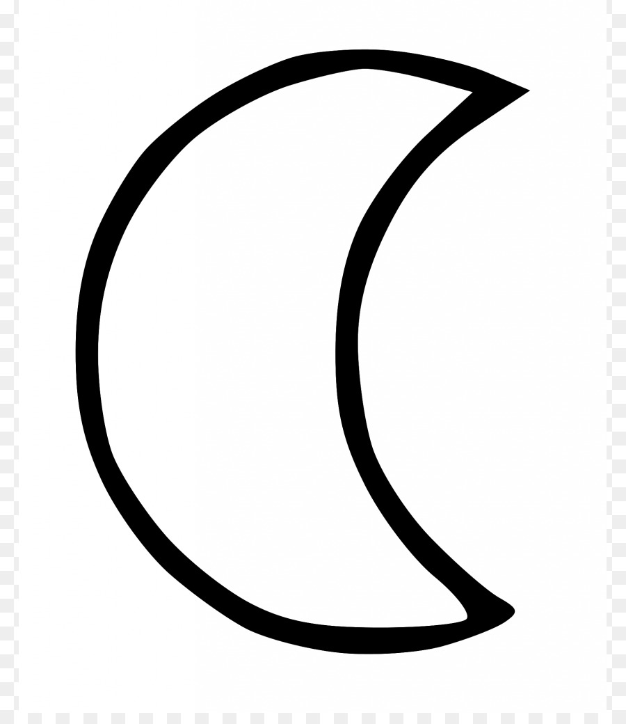 Full moon Black and white Lunar phase Clip art - Half Moon Cliparts
