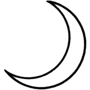 Moon Black And White Clipart #1