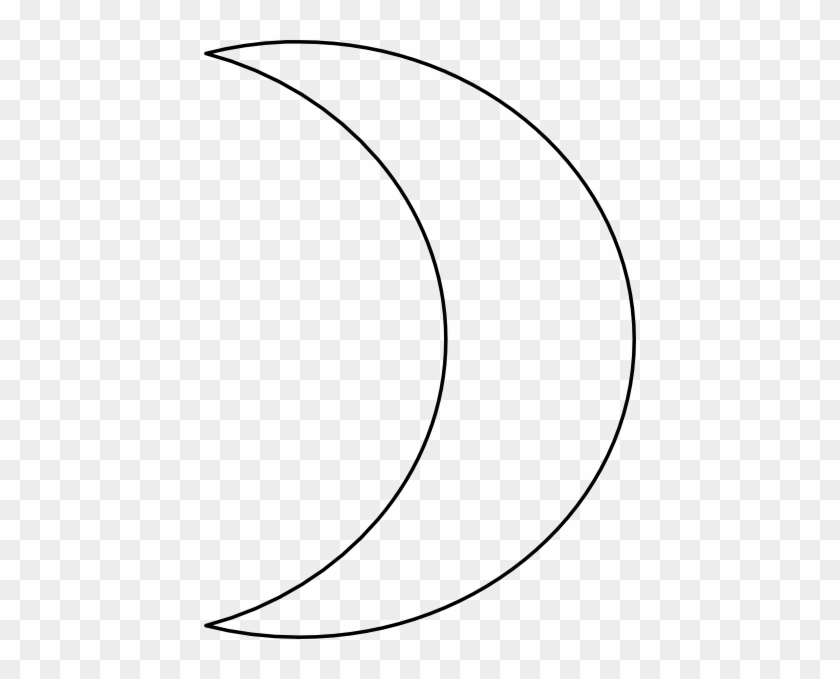 Moon Clipart Outline Free Images - Moon Clipart Black And White