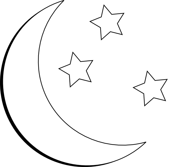 The fantasy author J. R. R. Tolkien of Middle-earth fame included . hdclipartall.com jpg  Moon Clipart Black And White