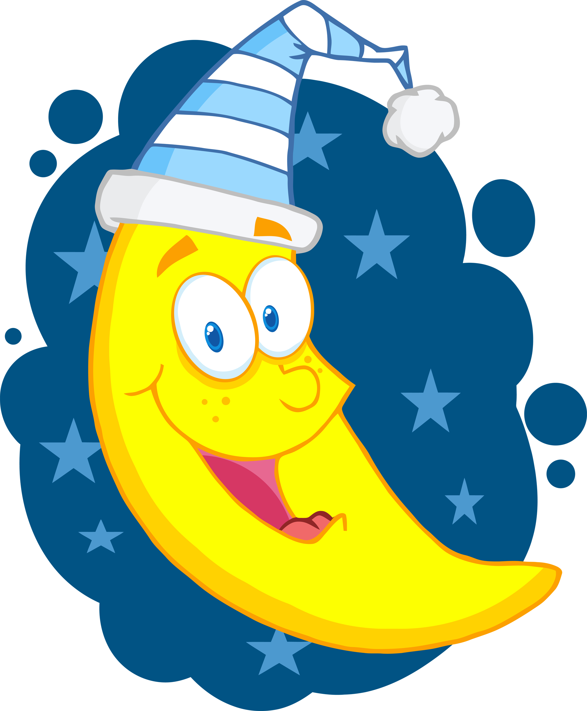 Happy moon clipart