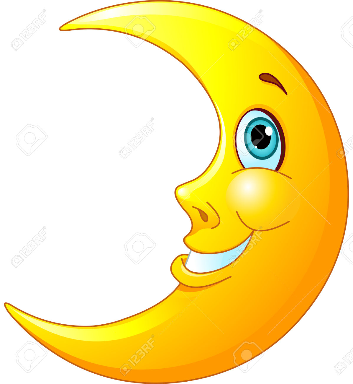 Moon Clipart Happy #4