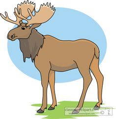 Moose and reindeer clipart on .