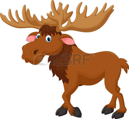 moose cartoon Illustration .