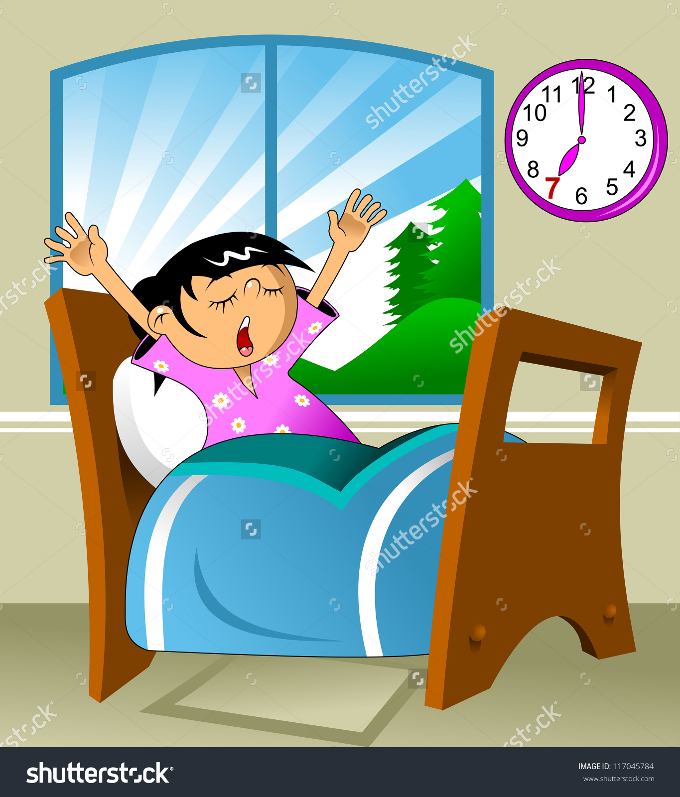 morning girl wake up clipart ... Save to a lightbox