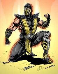 Mortal kombat scorpion clip art