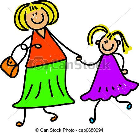 mother and daughter - happy mother and daughter holding... ...