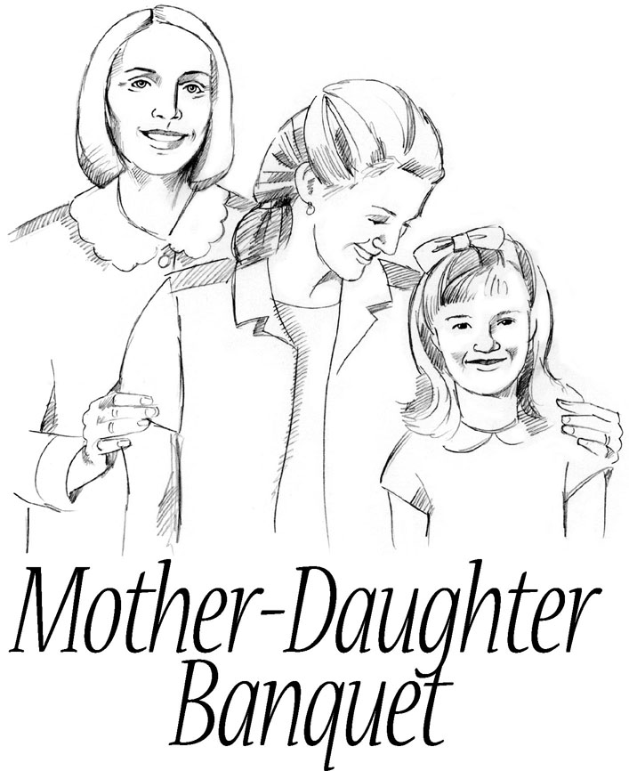 Mother Daughter Banquet Clipart #1
