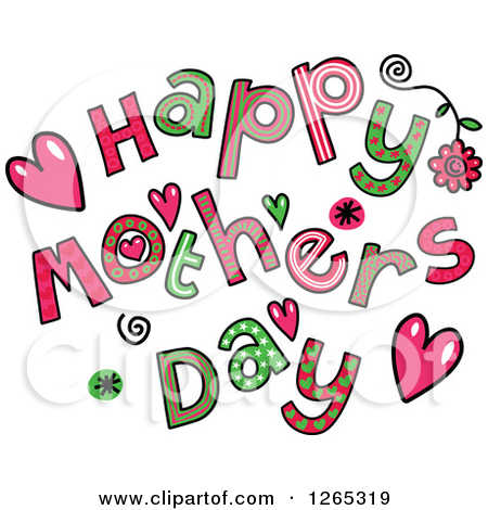 ... Mothers Day Text Royalty Free Vector Illustration. Preview Clipart