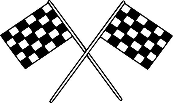 Motor Racing Flags clip art