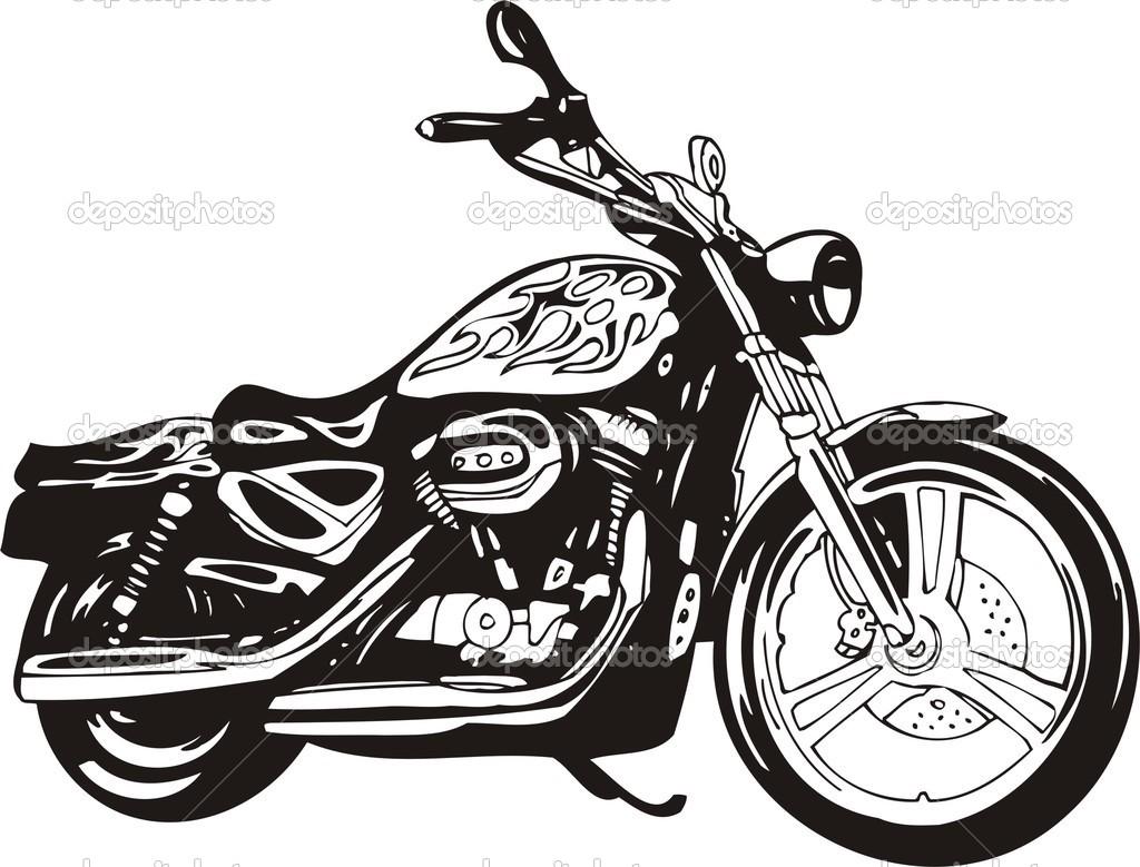 motorcycle clip art harley .