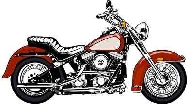 motorcycle icon colored flat sketch