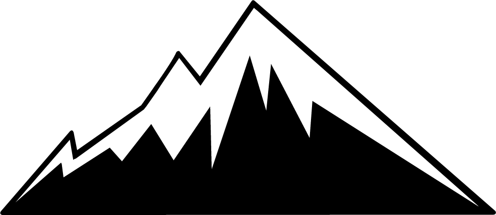 Colorado clipart Mountain Clipart Black And White #1