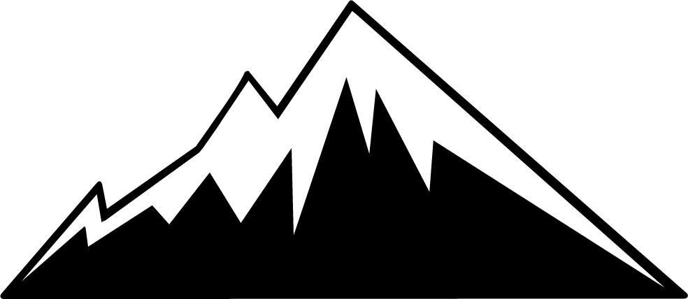 Colorado clipart Mountain Clipart Black And White #1