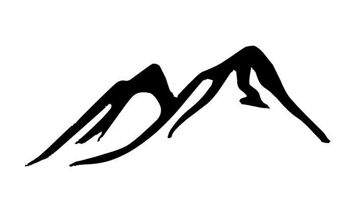 Free Mountain clipart black a - Mountain Clipart Black And White